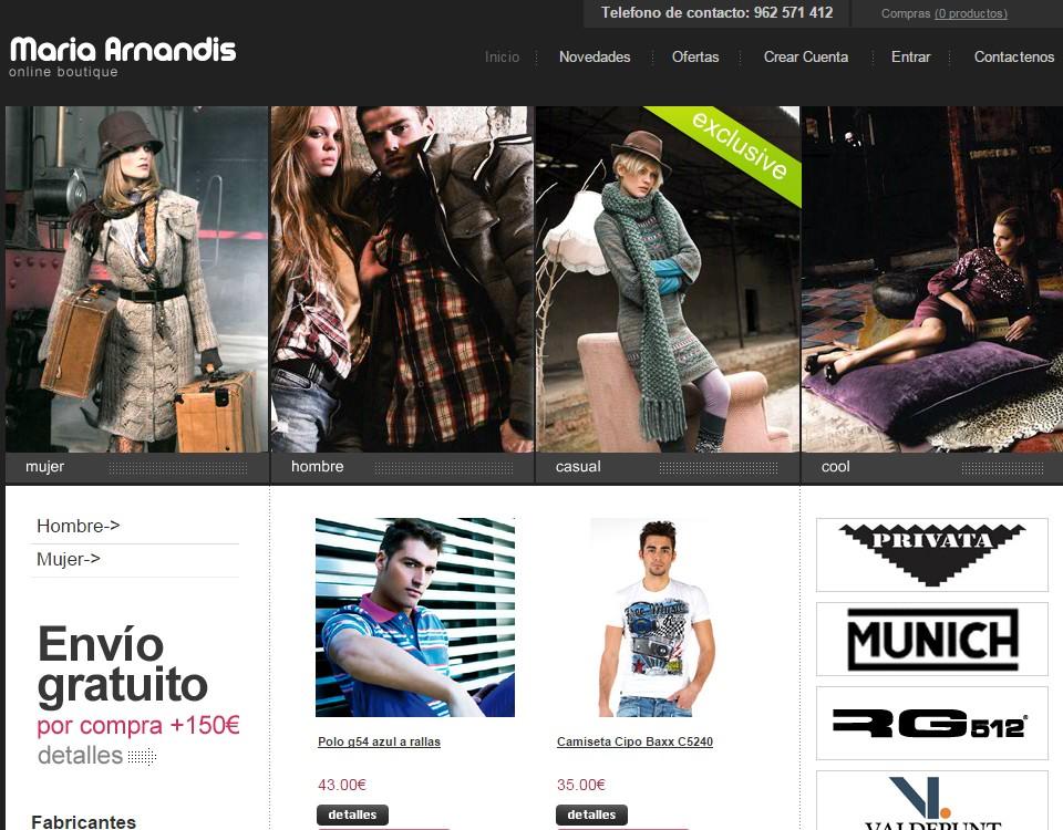 Tienda Online Maria Arandis